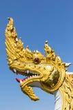 Glodenkoning van Nagas-Standbeeld Stock Afbeelding