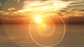 Gloed 1 van de zon stock illustratie