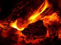 Gloed in fornuis Stock Foto's