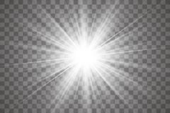 Gloed lichteffect royalty-vrije illustratie