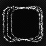 Gloed lichteffect Cirkellensgloed Abstracte rotatielijnen De neonlichten kosmisch abstract kader van de machtsenergie Magische ro stock illustratie