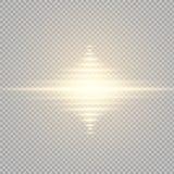 Gloed lichteffect Steruitbarsting met Fonkelingen Zon Royalty-vrije Stock Fotografie