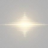 Gloed lichteffect Steruitbarsting met Fonkelingen Zon Royalty-vrije Stock Foto's