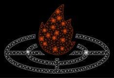 Gloed Mesh Carcass Fired Target met Gloedvlekken vector illustratie