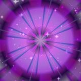Gloed purpere cirkel met sterrentextuur, mooie gloed purpere, abstracte achtergrond vector illustratie