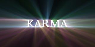 Gloed van de Karma de lichte snelheid stock illustratie