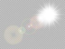 Gloed van de zonlicht de speciale lens Eps 10 royalty-vrije illustratie