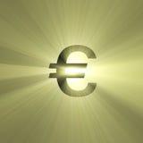 Gloed van het het teken de Euro geld van de munt Royalty-vrije Stock Fotografie