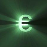 Gloed van het het teken de Euro geld van de munt royalty-vrije illustratie