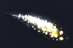 Gloedeffect sterren met fonkelingen stock illustratie