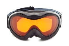 Gloednieuwe die skibeschermende brillen op witte achtergrond worden geïsoleerdu Royalty-vrije Stock Afbeeldingen