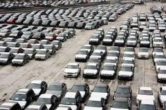 Gloednieuwe voertuigen Stock Afbeelding