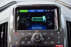 Gloednieuwe volledig-elektrische auto royalty-vrije stock afbeelding