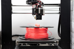 Gloeidraad voor 3D PRINTER en 3d printer Stock Fotografie