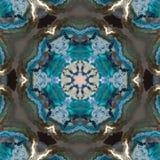 Gloeiend abstract blauw het effect van de wintertalingsster marmer royalty-vrije illustratie