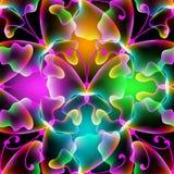 Gloeiend abstract vlinders vector naadloos patroon Royalty-vrije Illustratie