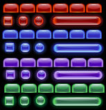 Gloeiend computerpictogram Stock Illustratie