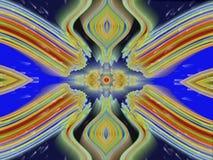 Gloeiend esoterisch symmetrisch bewegend patroon royalty-vrije illustratie