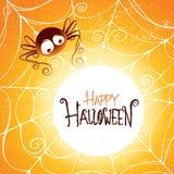 Gloeiend griezelig spinneweb stock illustratie