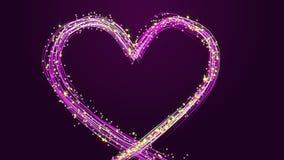 Gloeiend hart De dag van de valentijnskaart `s stock video