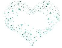Gloeiend hart met hartinstallaties Royalty-vrije Stock Fotografie