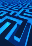 Gloeiend Labyrint Stock Afbeeldingen