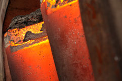 Gloeiend staal Stock Afbeeldingen