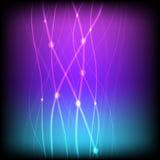 Gloeiende achtergrond met neonlijn Stock Afbeelding