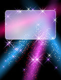Gloeiende achtergrond met uithangbord vector illustratie
