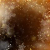Gloeiende achtergrond van de Kerstmis de gouden vakantie EPS 10 vector Stock Afbeeldingen