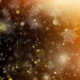Gloeiende achtergrond van de Kerstmis de gouden vakantie EPS 10 vector Stock Fotografie
