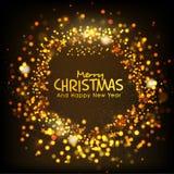 Gloeiende achtergrond voor Kerstmis en Nieuwjaar Royalty-vrije Stock Afbeelding