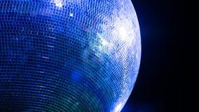 Gloeiende blauwe discobal Royalty-vrije Stock Fotografie