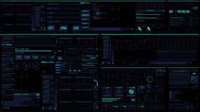 Gloeiende blauwe futuristische interface/Digitale screen/HUD vector illustratie