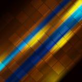 Gloeiende blauwe oranje strepen abstracte achtergrond Stock Foto