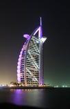 Gloeiende Burj Al Arabier Royalty-vrije Stock Foto's
