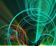 Gloeiende cirkels Stock Afbeelding