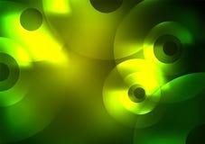 Gloeiende cirkels in dark Royalty-vrije Stock Foto