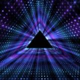 Gloeiende Driehoekstunnel Samenvattingen Futuristische Achtergrond Royalty-vrije Stock Afbeelding
