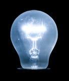 Gloeiende elektrische gloeilamp Stock Foto
