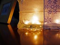 Gloeiende Glas Lichte Doos stock afbeeldingen