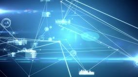 Gloeiende grafiekinterface met verbindingslijnen
