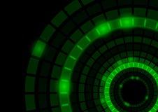 Gloeiende Groene Cirkels stock illustratie