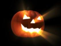 Gloeiende Halloween pompoen Royalty-vrije Stock Afbeeldingen