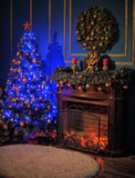 Gloeiende Kerstmisboom Stock Fotografie