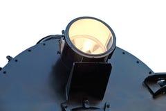Gloeiende koplamp van de locomotief royalty-vrije stock foto