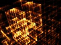 Gloeiende kubussen - abstract digitaal geproduceerd beeld Royalty-vrije Stock Foto
