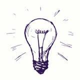 Gloeiende lamp vector illustratie