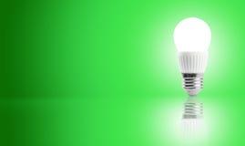 Gloeiende LEIDENE energie - besparingsbol Royalty-vrije Stock Afbeelding
