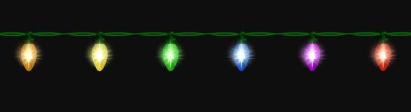 Gloeiende lichte bundel over zwarte Royalty-vrije Stock Afbeeldingen